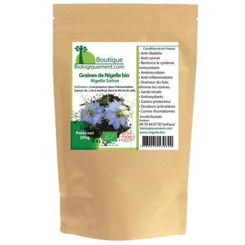 Graines de Nigelle bio - Nutrition Active Graines de Nigelle bio