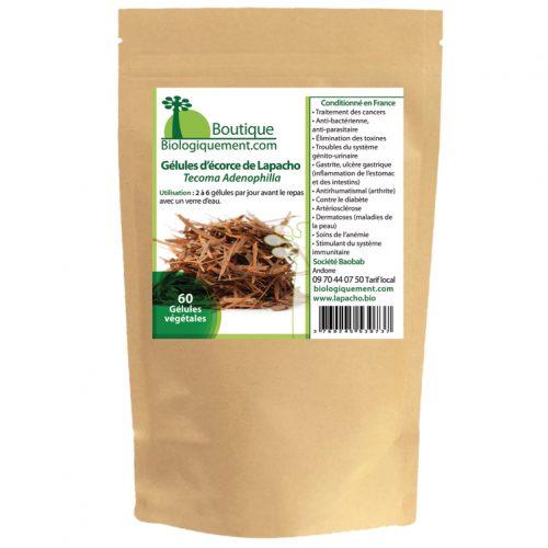 Gélules de d'écorce de Lapacho bio - Nutrition Active - %